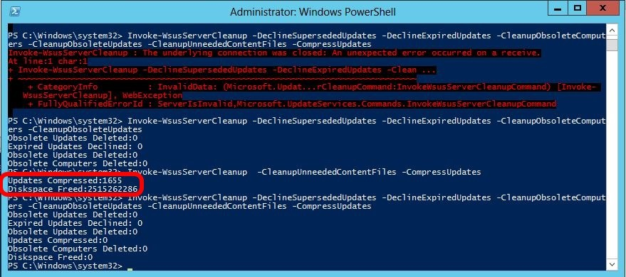 The Wsus Powershell Cleanup {Forum Aden}