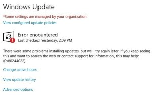 SOLVED: What Does Error 0x80244022 Mean in Windows Update – Up