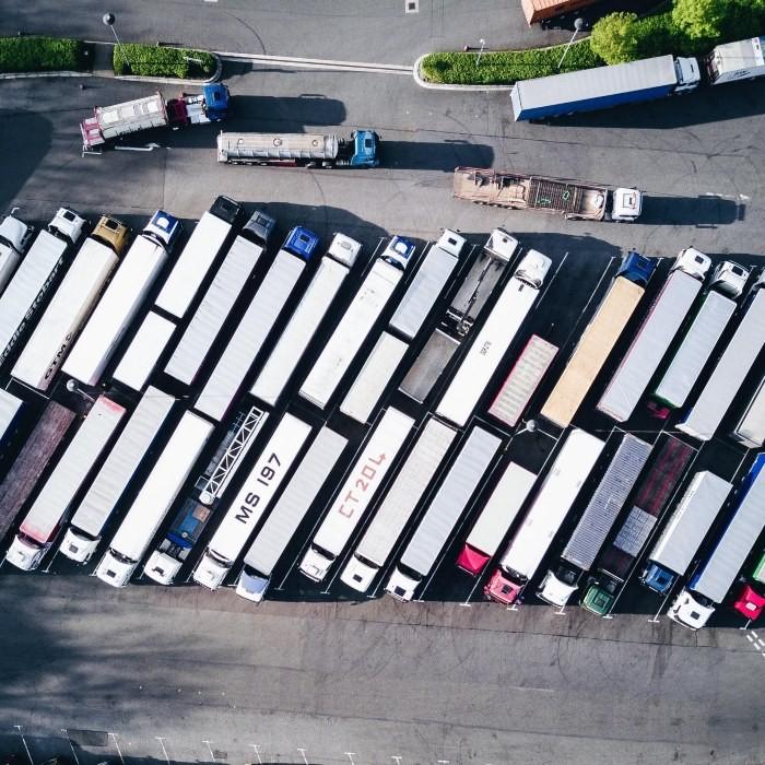 trucks-diagonal-parking-lot