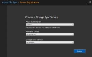 Azure-file-sync-registration