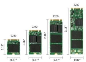 2230 vs 2242 vs 2260 vs 2280 SSD