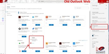 Blocked Manage Addins in old Outlook Web Access 2
