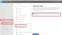 Office365 Admin Settings Services and Addins Integrated Apps Let people in your organization third party apps information