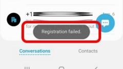 Registration Failed - RCS Chat Setup focus