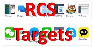 rcs targets wechat whatsapp telegram