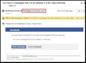 facebook email phishing