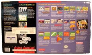 super nintendo entertainment system retail box back