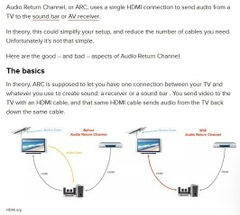 hdmi arc explained audi return channel