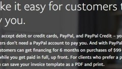 paypal invoicing 6 month financing