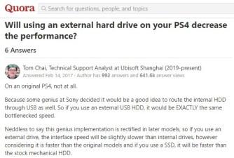 Sony PS4 USB External Disk Performance
