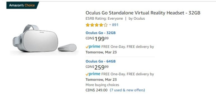 Amazon Oculus Go
