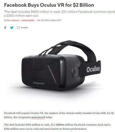facebook buys oculus