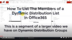 How to list the email addresses in a Dynamic Distribution List on Office365 Exchange