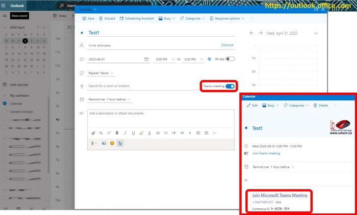 Microsoft Teams Audio Conferencing codes in Outlook Web Access OWA Webmail