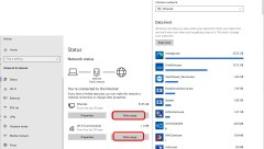 network status data usage windows 10
