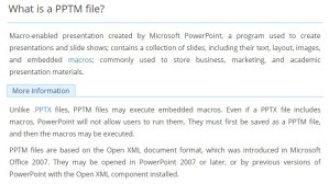 what is a powerpoint pptm file