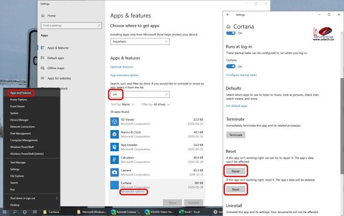 how to reset Cortana