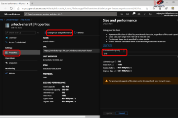 how to resize an azure file share