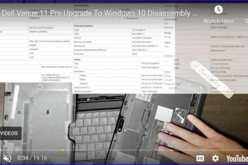 Dell Venue Pro 11 5130 Upgrade to Windows 10