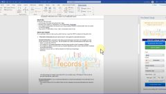how to create a word cloud from within Microsoft Word