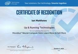 Intel Movidius Course Completion