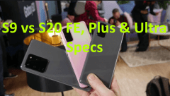 Samsung s9 vs s20 specs