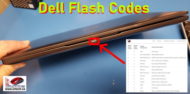 dell flash codes explained