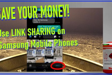 how to use link sharing on samsung mobile phones