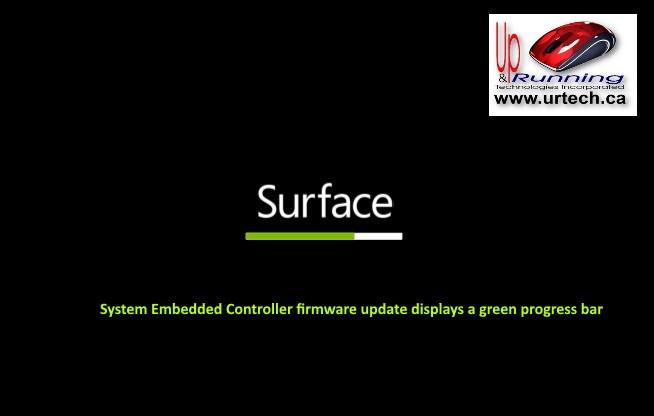 microsoft surface - green bar under surface means System Embedded Controller firmware update displays a green progress bar