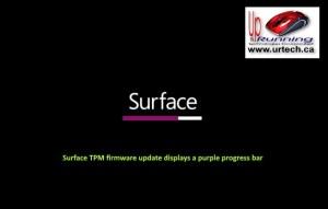 microsoft surface - purple bar under surface means Surface TPM firmware update displays a purple progress bar