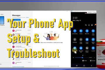 your phone app link to windows from your android cell phone setup and troubleshoot