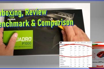 quadro P1000 unboxing benchmark review comparison