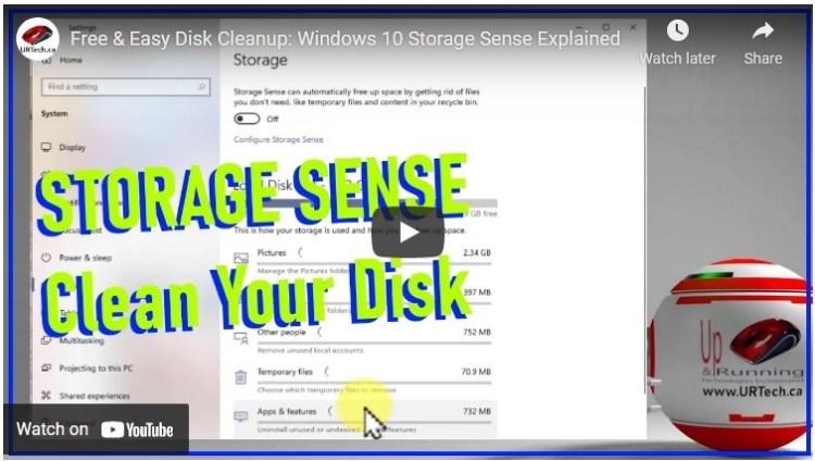 windows 10 storage sense clean your drive utility