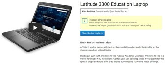 Dell 3300 Student Education Laptop