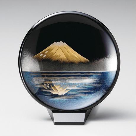 鏡金富士 飾り皿(小)スタンド付き