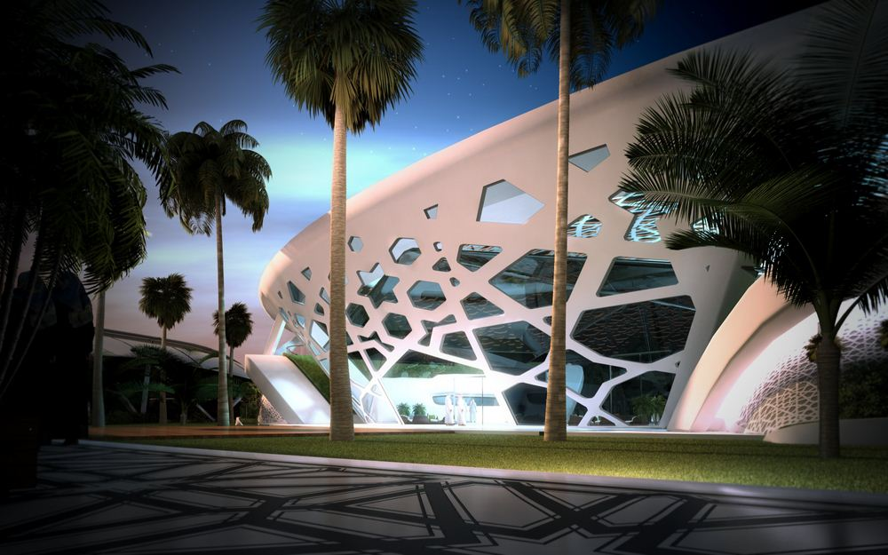 hanging chair qatar steel furniture a palace for nature in doha, by sanzpont - arquitectura
