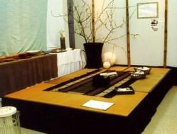 畳敷きのお茶スペース