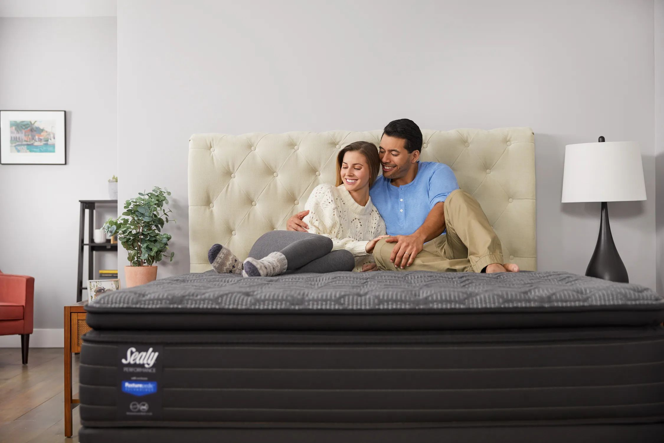 cal king sealy response performance elm avenue plush pillow top 13 5 inch mattress