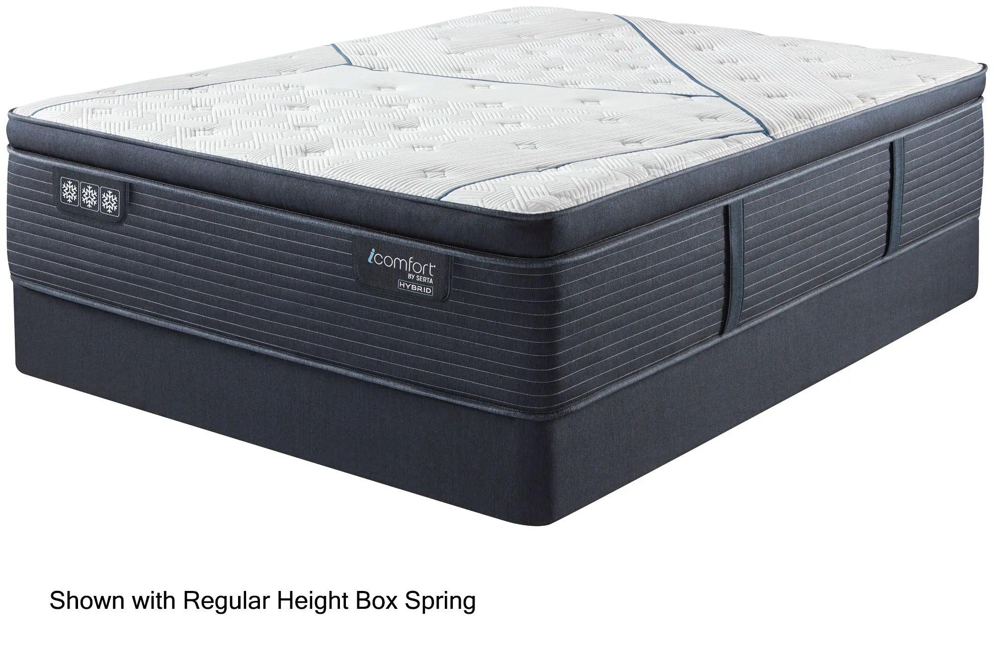queen serta icomfort hybrid quilted cf4000 plush pillow top 15 inch mattress