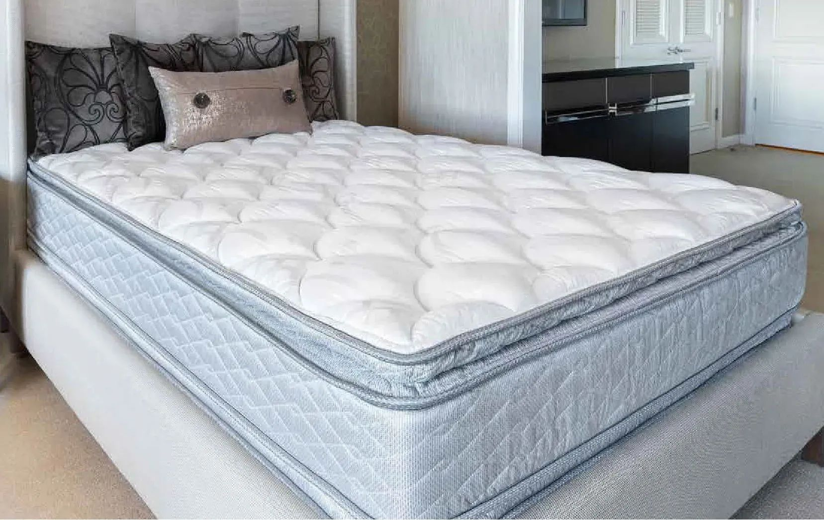 cal king serta perfect sleeper hotel congressional suite supreme ii euro pillow top double sided 13 inch mattress 2 pack