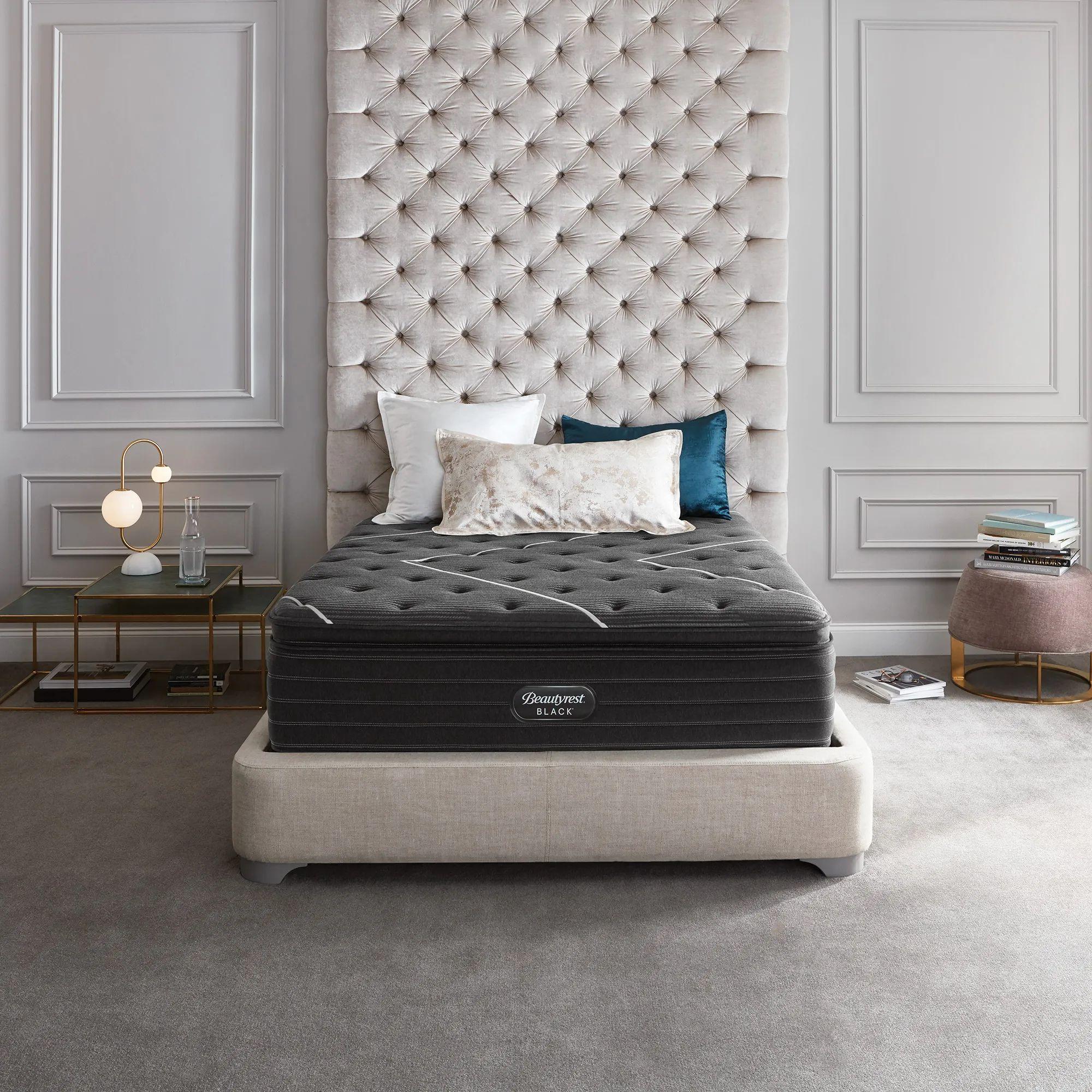 king simmons beautyrest black c class plush pillow top 16 inch mattress free 300 visa gift card