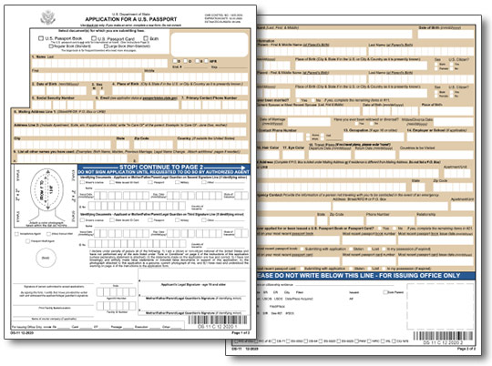 filling out application forms