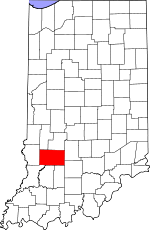 Greene County, Indiana places and people
