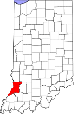 Knox County, Indiana places and people