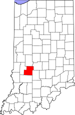 Owen County, Indiana places and people