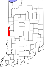 Vermillion County, Indiana places and people