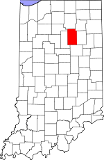 Wabash County, Indiana places and people