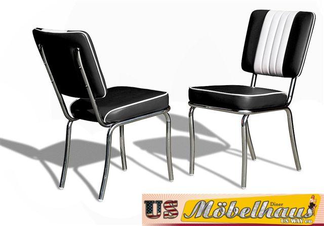 details sur co 24 noir bel air meuble 2 chaises diner de cuisine dans style le 50er ans usa