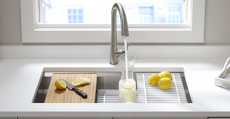 kohler kitchen sink home depot island lighting prolific stainless steel bathroom and