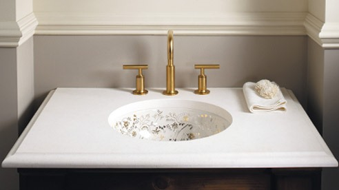 Mille Fleurs  Metallic  Artist Editions Bathroom